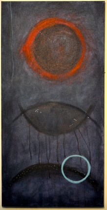 Image of Absence, acrylic on canvas, by Abigail Kramer.