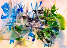 Image of Untitled. Gouache and Acrylic on Paper by Alegría Falconi.