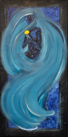 Image of The Astronomer, acrylic on canvas, by Danica Jones