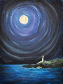 Image of Light of the Night, acrylic on canvas. By Nour Fatal.